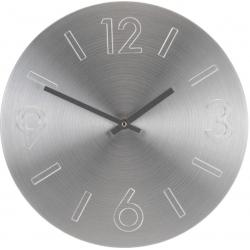 Ceas perete din Aluminiu, cu limbi negre, D35cm argintiu1