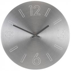 Ceas perete din Aluminiu, cu limbi negre, D35cm argintiu0