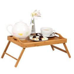 Masa servire in pat, din Banbus, cu picioare pliabile, Nago, 50 x 30 x 21 cm [7]