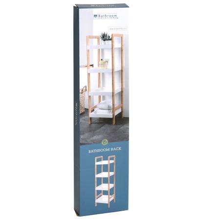 Raft pentru baie, 4 polite, Bambus si MDF, 110 cm [1]