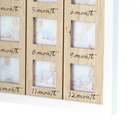 Rama foto lemn pentru 12 poze dimensiune 25x40.5 cm6