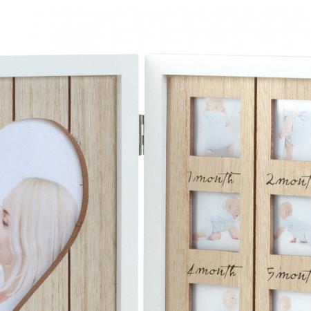 Rama foto lemn pentru 12 poze dimensiune 25x40.5 cm4