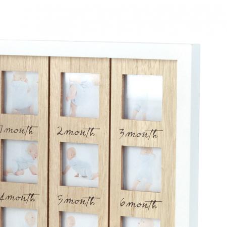 Rama foto lemn pentru 12 poze dimensiune 25x40.5 cm5