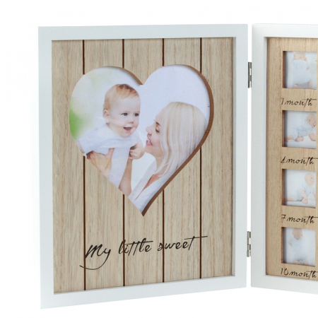 Rama foto lemn pentru 12 poze dimensiune 25x40.5 cm1