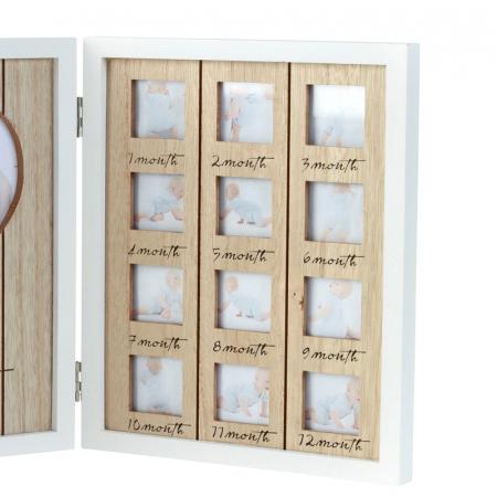 Rama foto lemn pentru 12 poze dimensiune 25x40.5 cm2