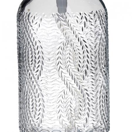 Recipient pentru sapun din sticla transparenta model impletitura, inaltime 18 cm diametru 7,5 cm3
