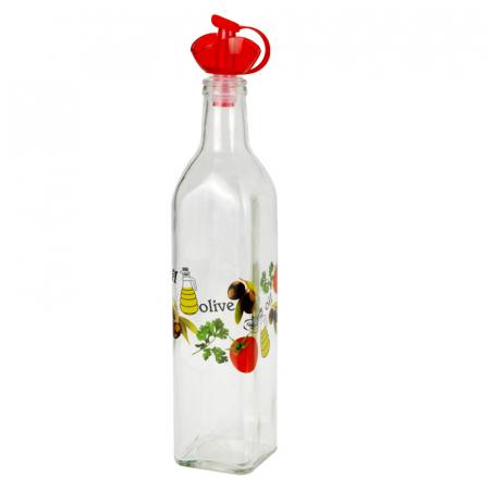 Recipient pentru ulei sau otet, 500 ml, capac Rosu [0]