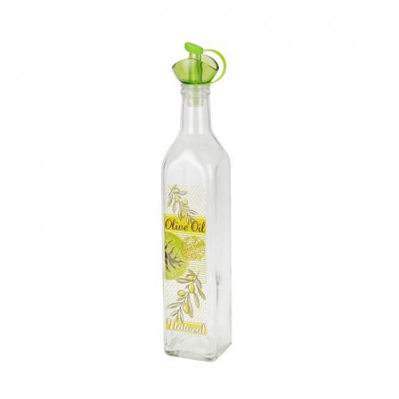 Recipient pentru ulei sau otet 500 ml capac verde1