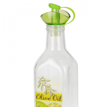 Recipient pentru ulei sau otet 500 ml capac verde3