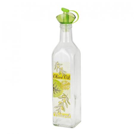 Recipient pentru ulei sau otet 500 ml capac verde4