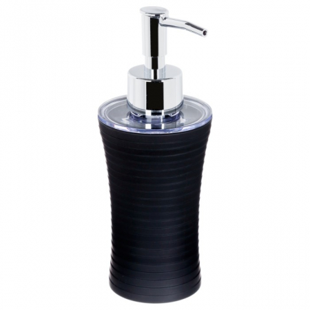 Recipient sapun lichid, culoare neagra, Dim 18x7cm polistiren G86 g [0]