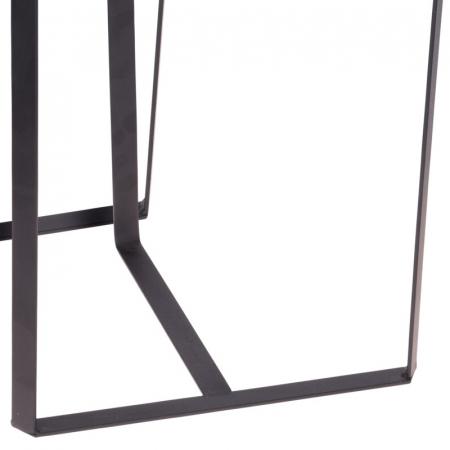 Set 2 mese metal culoarea gri inchis,blat sticla securizata ,dimensiuni 40x44 cm si 45x50cm4