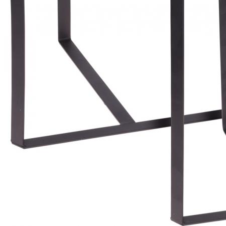Set 2 mese metal culoarea gri inchis,blat sticla securizata ,dimensiuni 40x44 cm si 45x50cm5
