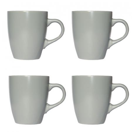 Set 4 cani ceramica gri deschis 340 ml [0]
