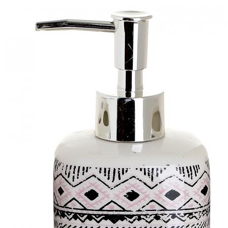 Set 4 piese pentru baie din ceramica cu model negru cu gri  25,5Χ21,5Χ8 cm1