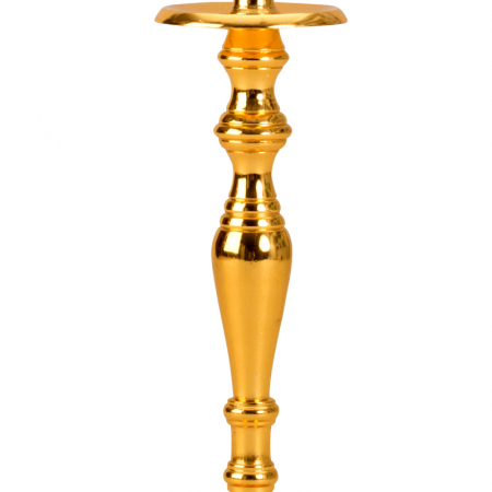 Sfesnic Mic Auriu, cu 1 brat, din metal, placat cu Aur, 23 cm4