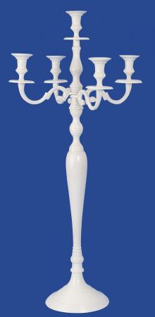 Sfesnic Mare, metalic, cu 5 brate, culoare Alb, 81 cm1