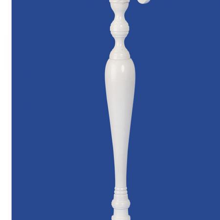 Sfesnic Mare, metalic, cu 5 brate, culoare Alb, 81 cm3
