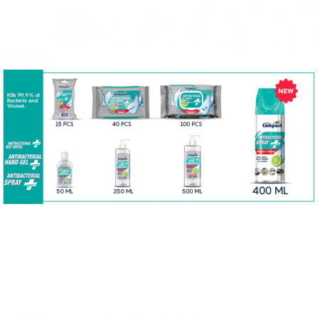 Spray Antibacterian, Lime, Ultra Compact, 400 ml6