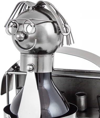Suport din Metal pentru Sticla de Bere, model Farmacist, H 25 cm, L 14 cm4