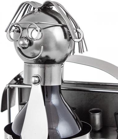 Suport din Metal pentru Sticla de Bere, model Farmacist, H 25 cm, L 14 cm1