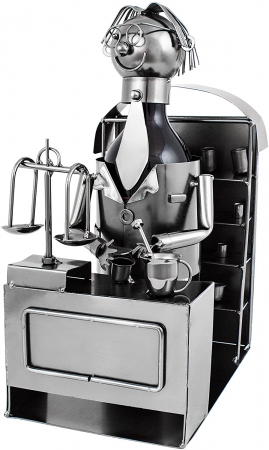 Suport din Metal pentru Sticla de Bere, model Farmacist, H 25 cm, L 14 cm5