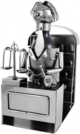 Suport din Metal pentru Sticla de Bere, model Farmacist, H 25 cm, L 14 cm3