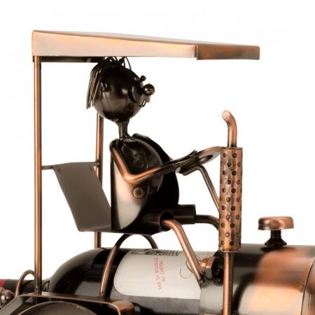 Suport din Metal pentru Sticla de Vin, model Tractor, H 27 cm2