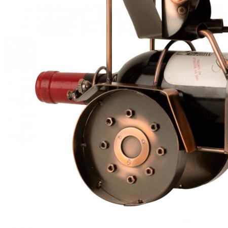 Suport din Metal pentru Sticla de Vin, model Tractor, H 27 cm3