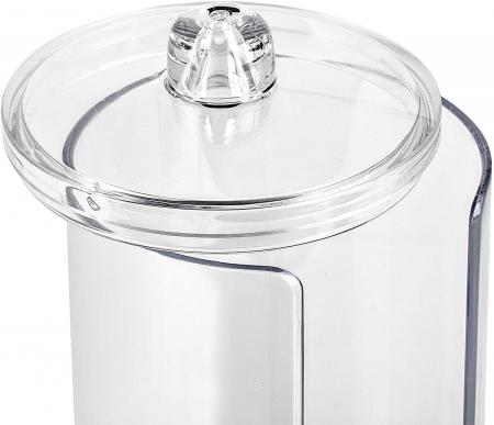 Suport din Plexiglas pentru dischete demacheante, NAGO, tampoane de bumbac, 20 cm x 7 cm, Transparent [1]