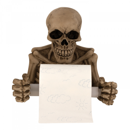 Suport hartie igienica model craniu /schelet 19x20 cm1
