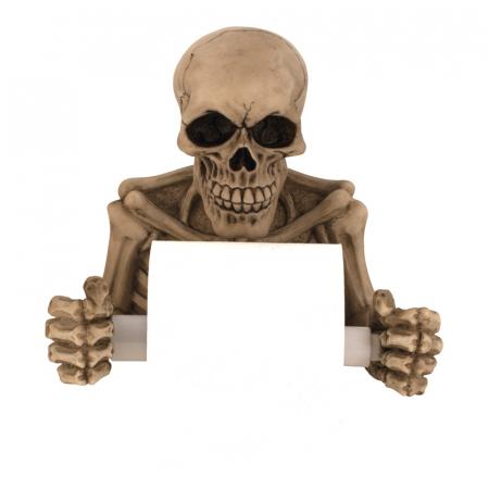 Suport hartie igienica model craniu /schelet 19x20 cm2