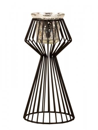 Suport lumanare din metal culoare neagra 22,5 cm [5]