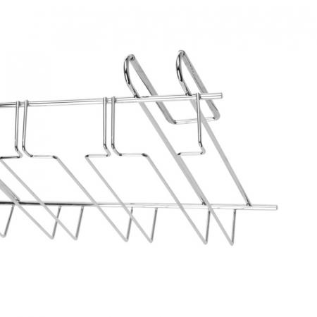 Suport din otel cromat, pentru pahare cu picior, 4 randuri, 34x25x8 cm [2]