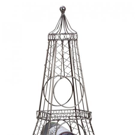 Suport din metal, pentru 6 Sticle Vin, model Turnul Eiffel, 72,5 cm2
