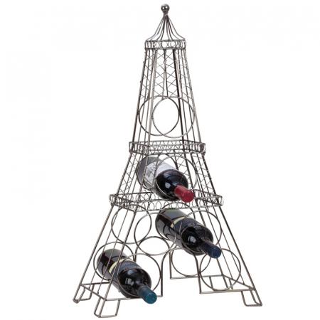 Suport din metal, pentru 6 Sticle Vin, model Turnul Eiffel, 72,5 cm1