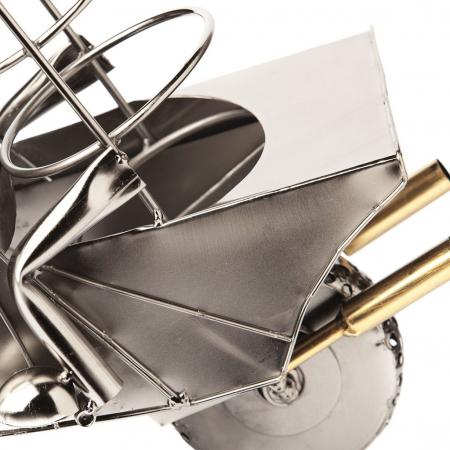 Suport metal pentru sticla vin motociclist H 35 cm5