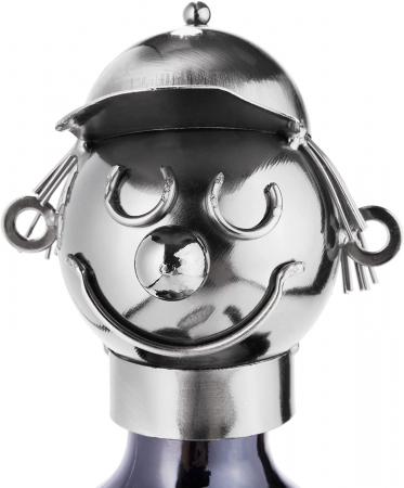 Suport metal pentru sticla vin tenismen H32 cm [3]