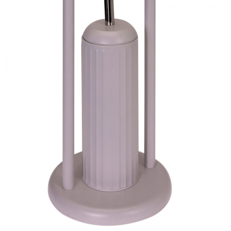 Suport metalic perie WC si hartie igienica, diametru 20cm x 80 cm, 2.3 kg, culoare Bej [3]