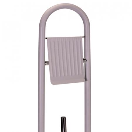 Suport metalic perie WC si hartie igienica, diametru 20cm x 80 cm, 2.3 kg, culoare Bej [5]