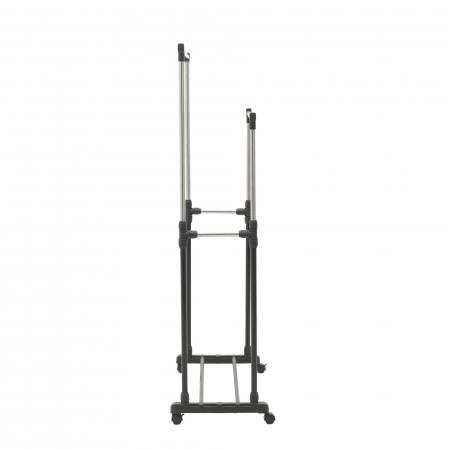 Suport metal si plastic pentru haine culoare negru 80Χ41Χ93/155 cm [3]