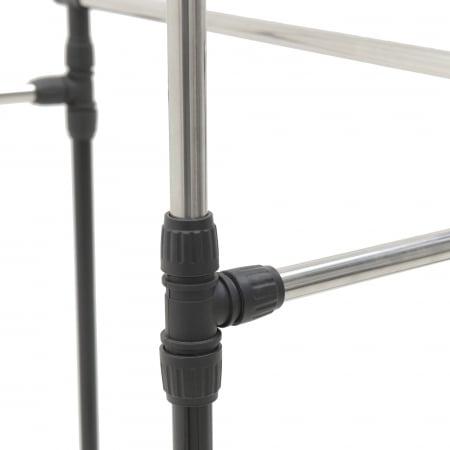 Suport metal si plastic pentru haine culoare negru 80Χ41Χ93/155 cm5