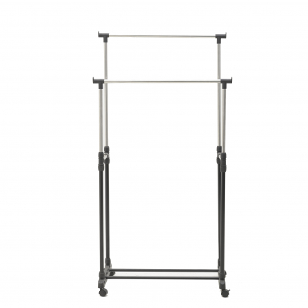 Suport metal si plastic pentru haine culoare negru 80Χ41Χ93/155 cm2
