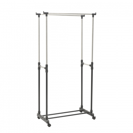 Suport metal si plastic pentru haine culoare negru 80Χ41Χ93/155 cm4