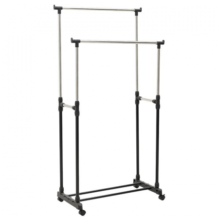 Suport metal si plastic pentru haine culoare negru 80Χ41Χ93/155 cm [0]