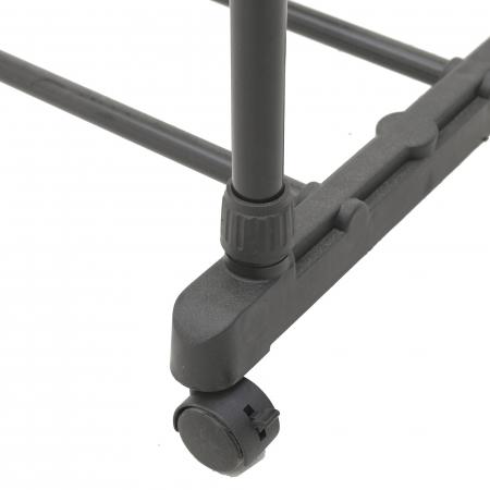 Suport metal si plastic pentru haine culoare negru 80Χ41Χ93/155 cm1