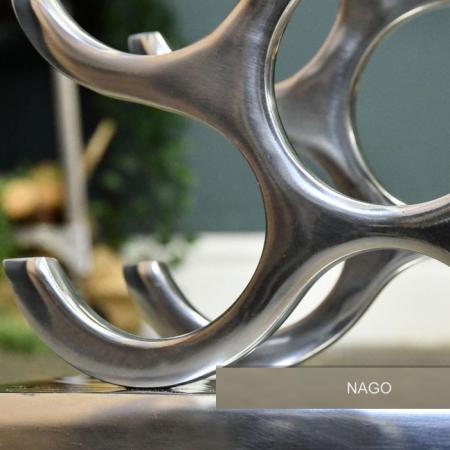 Suport modern pentru Sticle de Vin, din Aluminiu, capacitate 27 sticle, Argintiu, 100 cm x 33.5 cm8