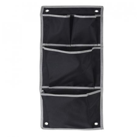 Suport organizare 4 compartimente poliester, Dim 20x57 cm , negru1