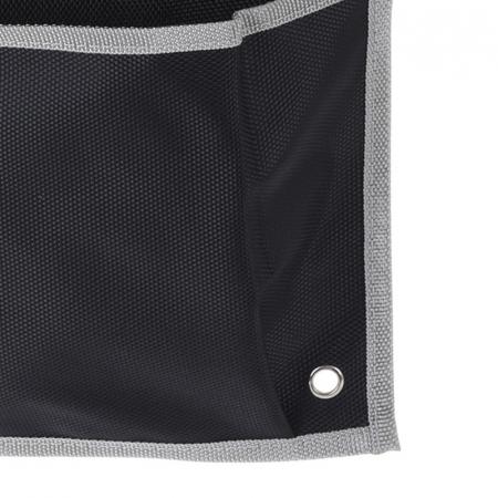 Suport organizare 4 compartimente poliester, Dim 20x57 cm , negru4