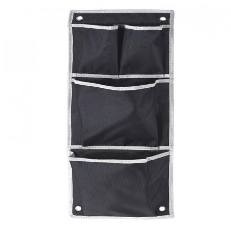Suport organizare 4 compartimente poliester, Dim 20x57 cm , negru0